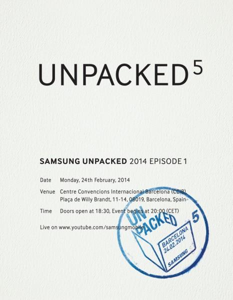 Samsungin kutsu MWC:n yhteydessä pidettävään Unpacked-julkistustilaisuuteen