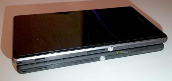 Sonyn Xperia G Xperia Z1:n alla ViziLeaksin aiemmin julkaisemassa kuvassa