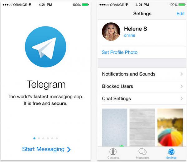 Telegram Messenger on tyylikkään yksinkertainen