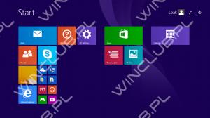 Windows 8.1 Update 1 Winclub.pl:n aiemmin julkaisemassa kuvassa. Kuvassa uutena asiana näkyvät oikeassa yläkulmassa haku- ja sammuta-painikkeet.