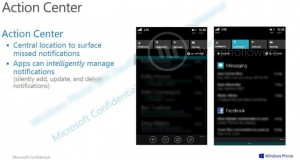 Windows Phone 8.1:n Action Center esittelyssä