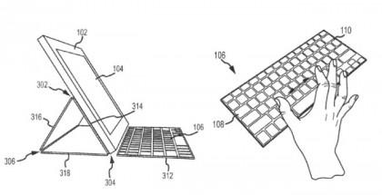 Kuva Applen näppäimistökuoripatenttihakemuksesta