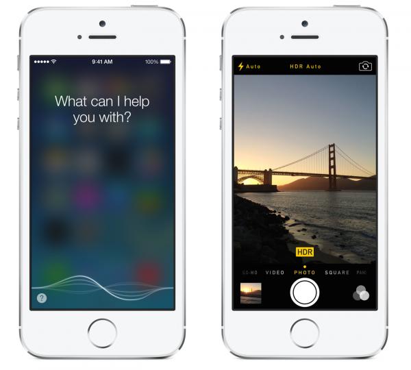 Siri kuuntelee nyt niin kauan kuin kotinäppäintä pitää pohjassa ja iPhone 5s:ssä kamera on nyt automaattisesti HDR-tilassa
