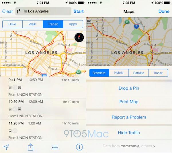 Tältä iOS 8:n karttojen joukkoliikennenavigoinnin pitäisi näyttää - tietojen perusteella luotu hahmotelmakuva, ei aito alkuperäinen kuvankaappaus