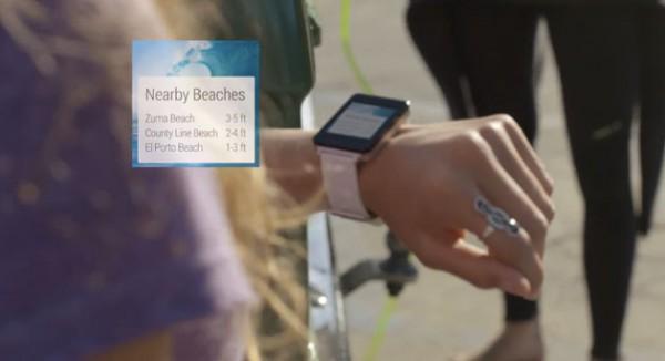 Toinen kuvankaappaus Googlen Android Wear -esittelyvideolta