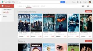 Google Playn elokuvat verkossa