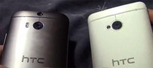 HTC:n uusi One vasemmalla - viime vuoden malli oikealla