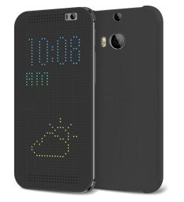 HTC Dot View -kuori, jonka pisteiden avulla voidaan esittää erilaisia tietoja
