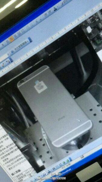 """Väitetty """"iPhone 6"""" kiinalaiseen Weibo-palveluun ladatussa kuvassa"""