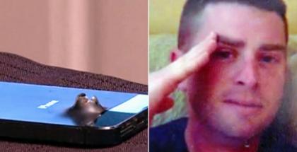 Iskun räjähdyksessä saanut iPhone ja ylikersantti Shaun Frank