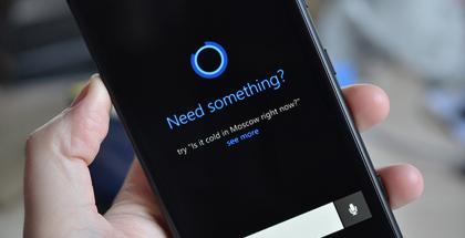 Microsoft Cortana The Vergen aiemmin julkaisemassa kuvassa