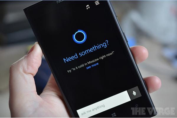 Microsoft Cortana The Vergen kuvassa