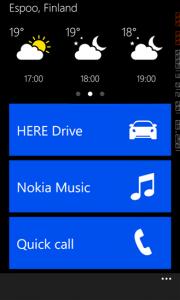 Nokia Car Appiin saa näkyviin myös säätiedot