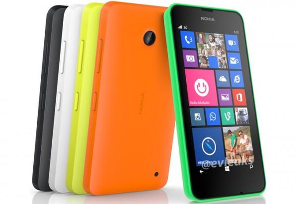 Nokia Lumia 630, eri väreissä @evleaksin aiemmin vuotamassa lehdistökuvassa