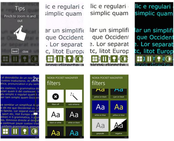 Kuvankaappauksia Nokia Pocket Magnifierista