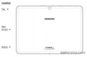 Samsungin Galaxy Tab 4 10.1 käväisi FCC:n testeissä. GSM Arenan julkaisema kuva.