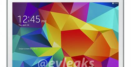 Samsung Galaxy Tab 4 10.1 valkoisena @evleaksin vuotamassa lehdistökuvassa