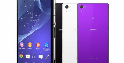 Sony Xperia Z2 eri väreissä