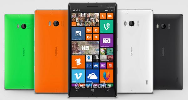 Nokia Lumia 930 @evleaksin vuotamassa lehdistökuvassa