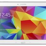 Samsung Galaxy Tab 4 10.1 valkoisena edestä