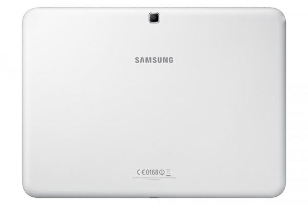 Samsung Galaxy Tab 4 10.1 valkoisena takaa