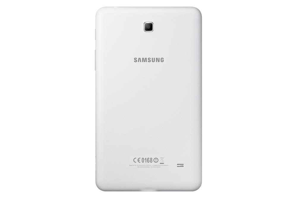Samsung Galaxy Tab 4 7.0 valkoisena takaa