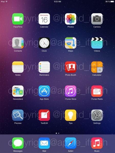 Väitetty kuvankaappaus iOS 8:sta iPadissa