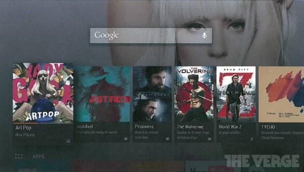 The Vergen julkaisema Android TV -kuvankaappaus