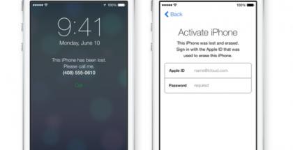Apple toi jo iOS 7:ssä esimerkiksi aktivointilukituksen