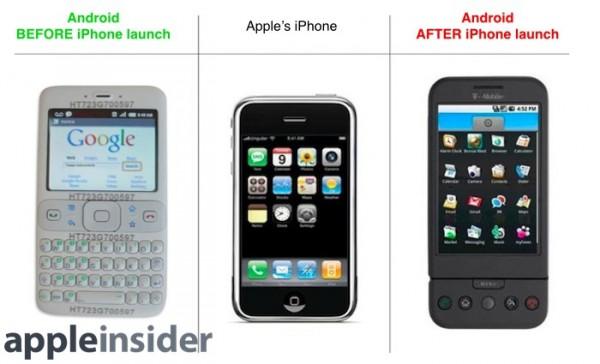 Android ennen iPhonea ei sisältänyt kosketusnäyttöä