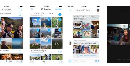 Kuvankaappauksia Dropboxin uudesta Carousel-sovelluksesta