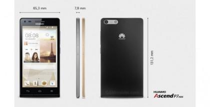 Huawei Ascend P7 minin mitat