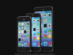 Designeri Martin Hajekin luoma konseptikuva suuremmista iPhoneista