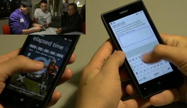 Microsoft esitti BUILDissa videon, missä nähtiin kuinka uudella Windows Phonen näppäimistöllä lyötiin kirjoitusnopeudessa aiempi maailmanennätys