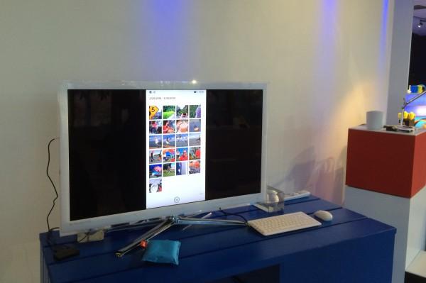 Miracastilla jaettu näyttökuva Lumia 930:stä televisioon