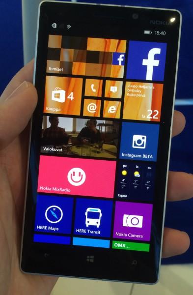 Lumia 930:n näyttö on vakuuttava