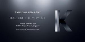 Kuva Samsungin K-tilaisuuden kutsusta