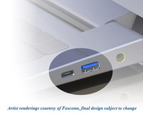 Uusi USB-portti voisi näyttää tältä