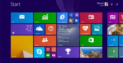 Windows 8.1 Update -päivitys ei tuo paljon jatkuvasti näkyviä uudistuksia aloitusnäkymään, mutta haku- ja virtapainikkeet ovat uutta