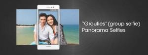 Ryhmäkuva etukameralla Group selfie eli groufie on yksi Ascend P7:n ominaisuuksista