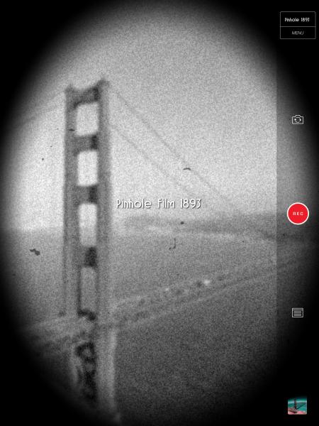 RECS ja neulanreikäkamera-teema iPadin näytöllä