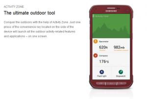 Galaxy S5 Activen Activity Zone -osio