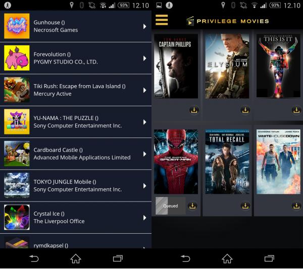 Sony tarjoaa Xperia Z2:n ostajalle liudan pelejä sekä elokuvia