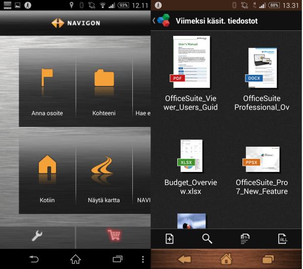 Xperia Z2:sta löytyy myös Garminin laadukas navigointisovellus sekä OfficeSuiten täysversio