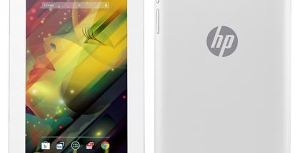 HP:n tablettilaite @evleaksin vuotamassa lehdistökuvassa edestä ja takaa