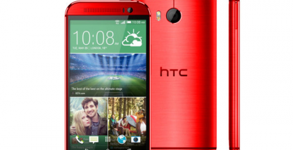 HTC One (M8) punaisena