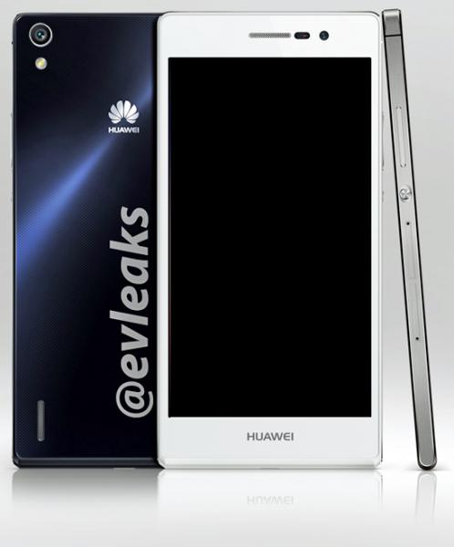 Huawei Ascend P7 @evleaksin vuotamassa lehdistökuvassa