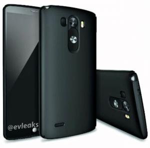 LG G3 mustana lisäsuojakuorella @evleaksin aiemmin julkaisemassa kuvassa