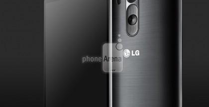 LG G3 mustana Phone Arenan julkaisemassa lehdistökuvassa