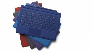 Microsoft Surface Pro 3:n Type Cover -näppäimistökuoria eri väreissä